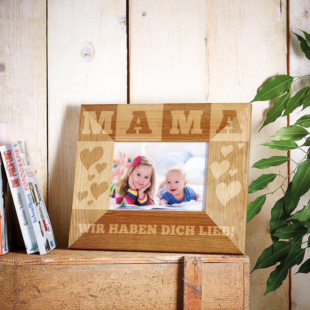 Bilderrahmen mit Gravur | Geschenke zum Muttertag | Pinterest | Zum ...