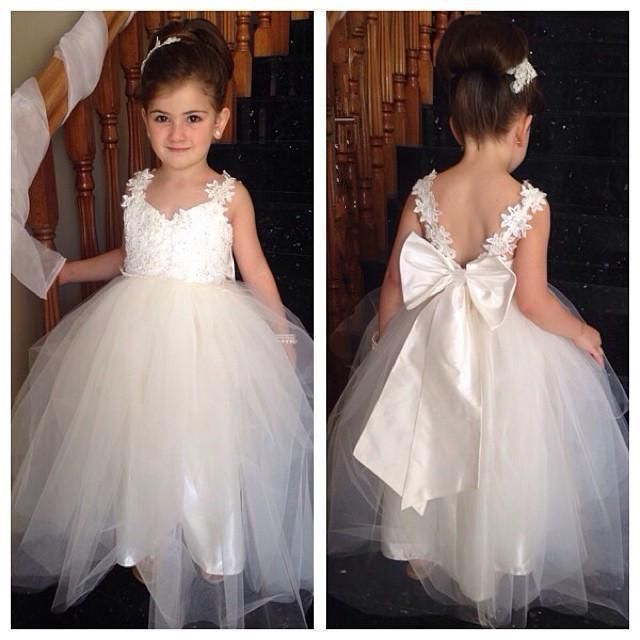 Lovely Flower Girl Dresses For Weddings Appliqued Prom Dress