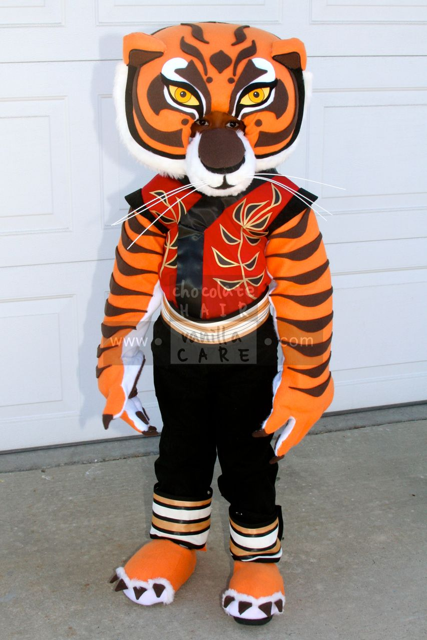 Homemade Master Tigress Costume (from Kung Fu Panda) #HalloweenCostume #DIY | Chocolate Hair / Vanilla Care & Homemade Master Tigress Costume (from Kung Fu Panda ...