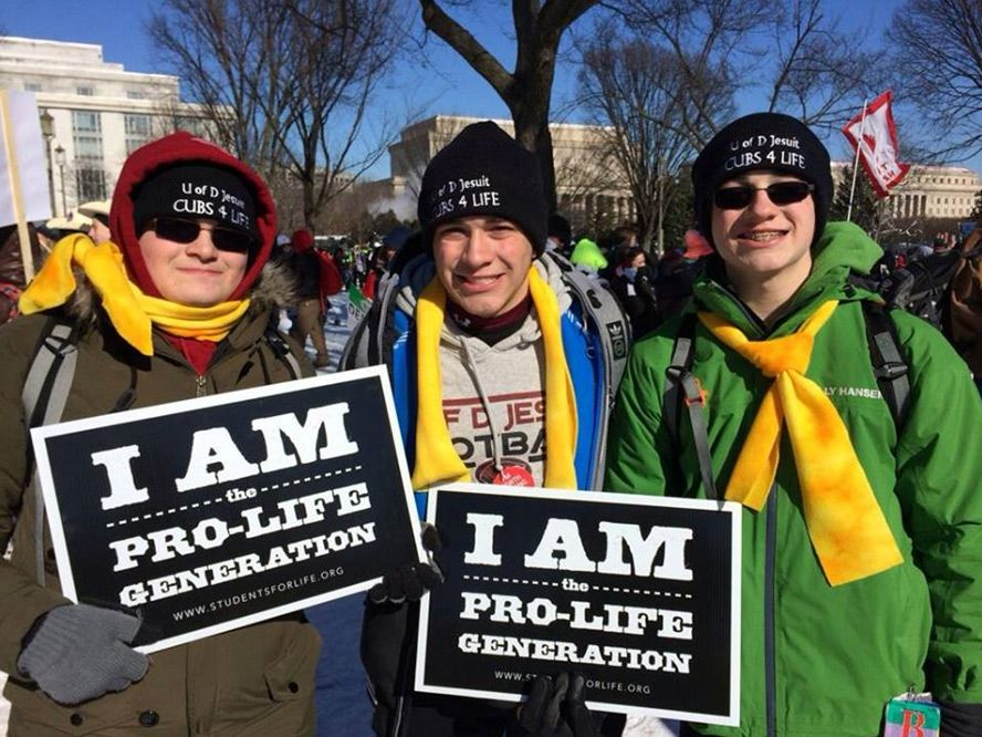 """So proud of my boys and all the University of Detroit Jesuit Cubs 4 Life fighting the good fight in bitter cold Washington, D.C. today. They bear witness to the dignity of each and every human person. All our rights begin with life.  All life is sacred - from conception to natural death."" -  Karen (Austin '14, Alex '16, Aidan '17)"