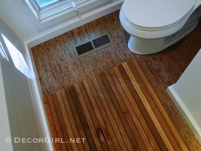 Designeru0027s Bathroom Makeover Remodel: From Ugly To Spa   Cork Floors In The  Bathroom U003d