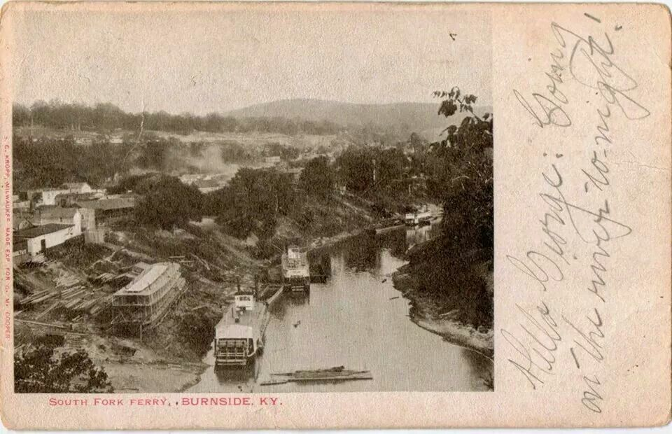 1906 Burnside KY Canal boat, Beautiful places, Lake