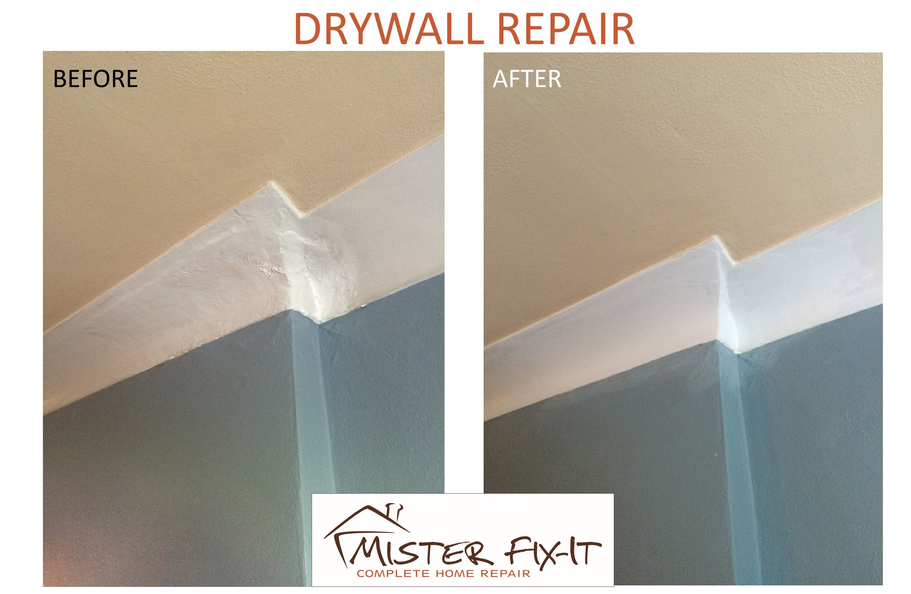 How To Repair Drywall 101 1 Prepare The Surface 2 Take A Step Back And Look At Prepared Surface 3 Put Down The Sandpaper Drywall Repair Home Repair Repair