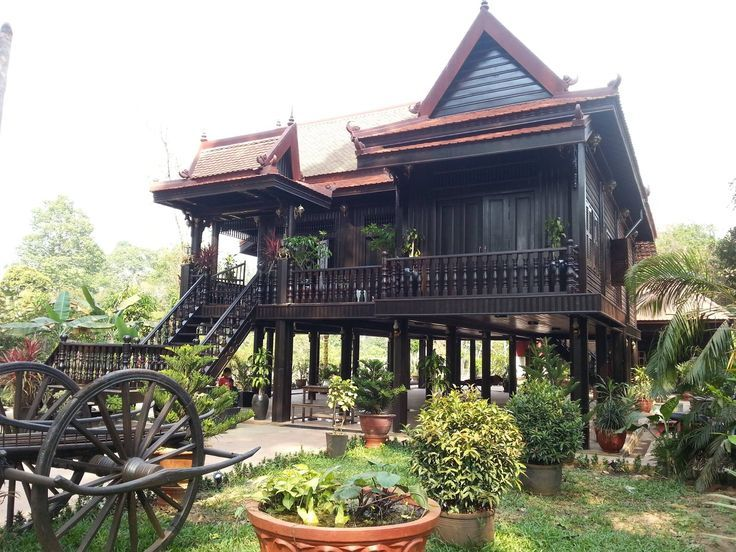 Khmer House Design Asian HouseThai HouseAsian ArchitectureTraditional