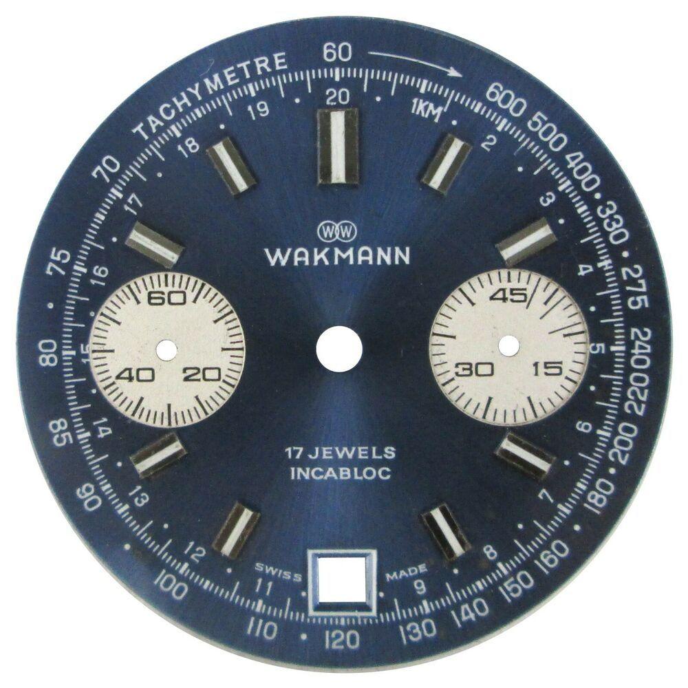 1960s wakmann panda dial part 1435 watch repair dial 17