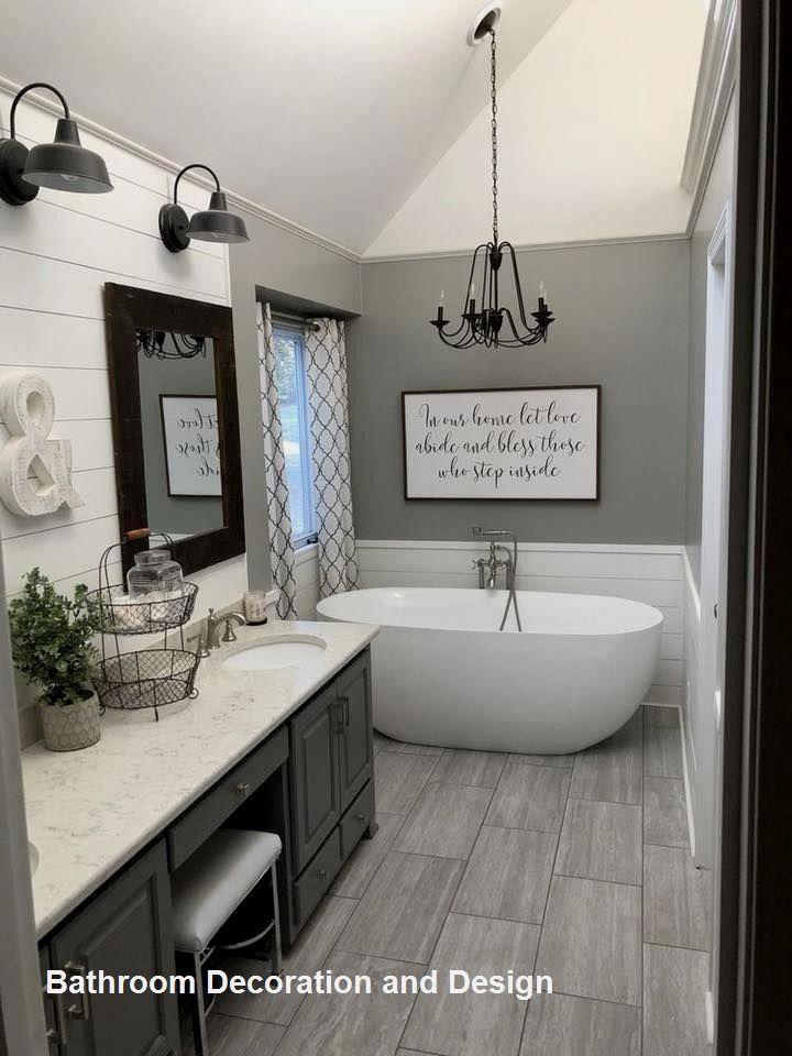 Fun Fifteen Bathroom Decor And Design Ideas 01 Bathroom Remodel Master Farmhouse Bathroom Decor Bathrooms Remodel
