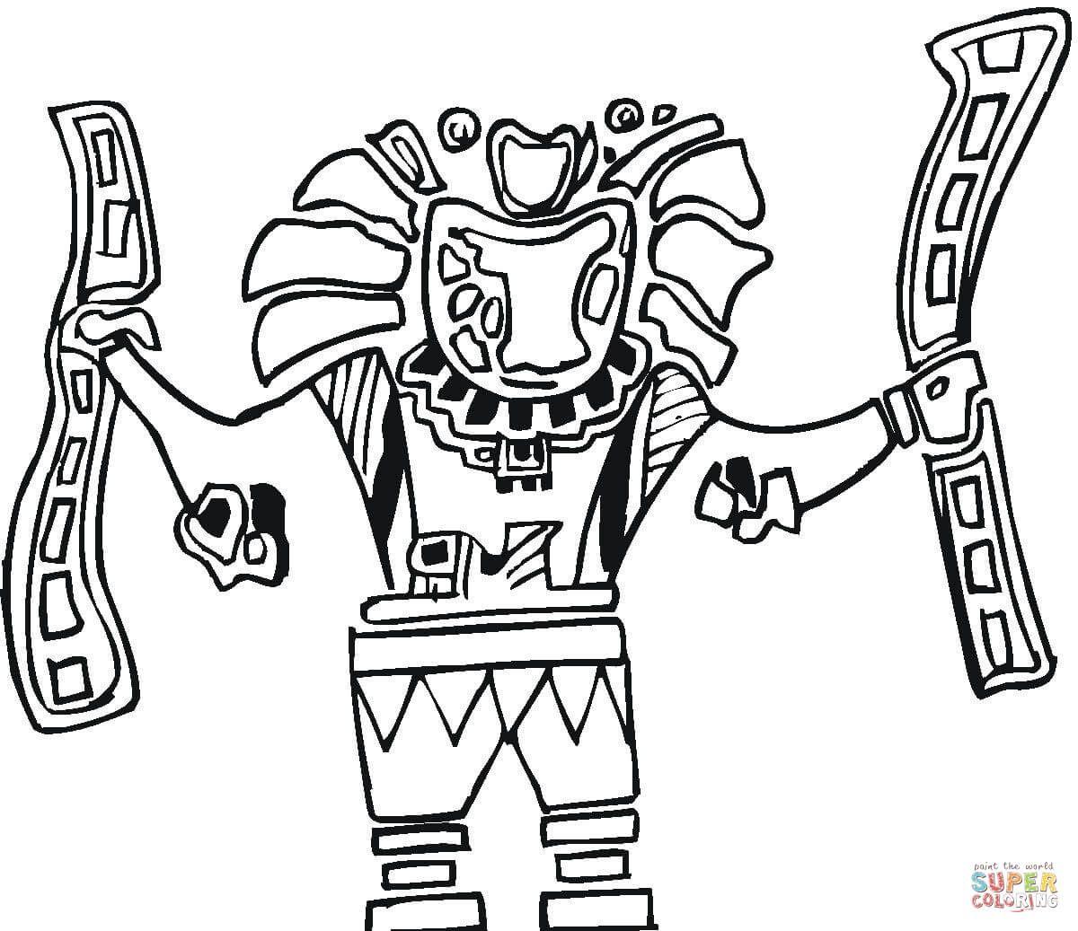 Aztec Art Coloring Pages