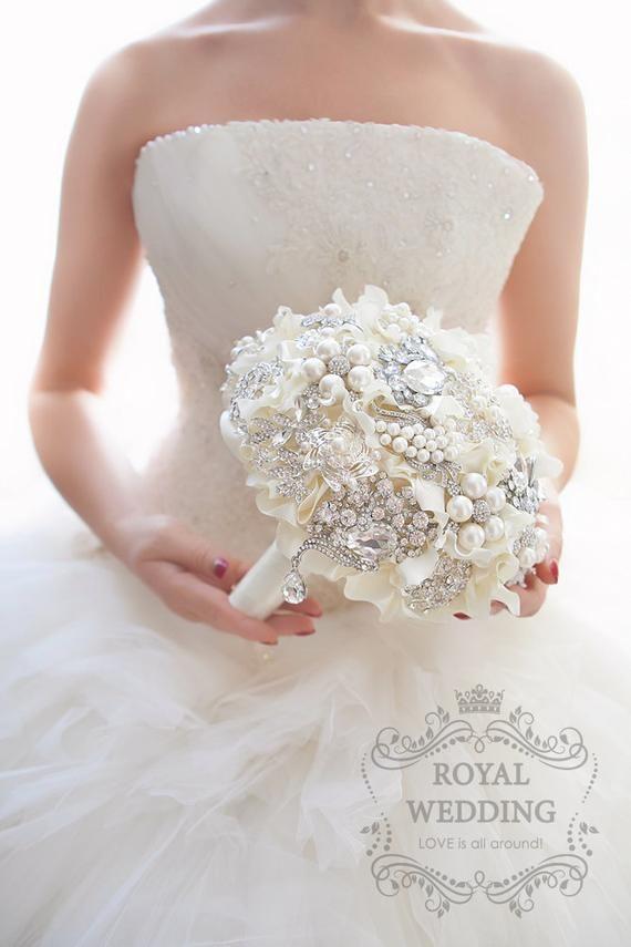 Ready To Ship Wedding Brooch Bouquet Wedding Bouquet Bridal