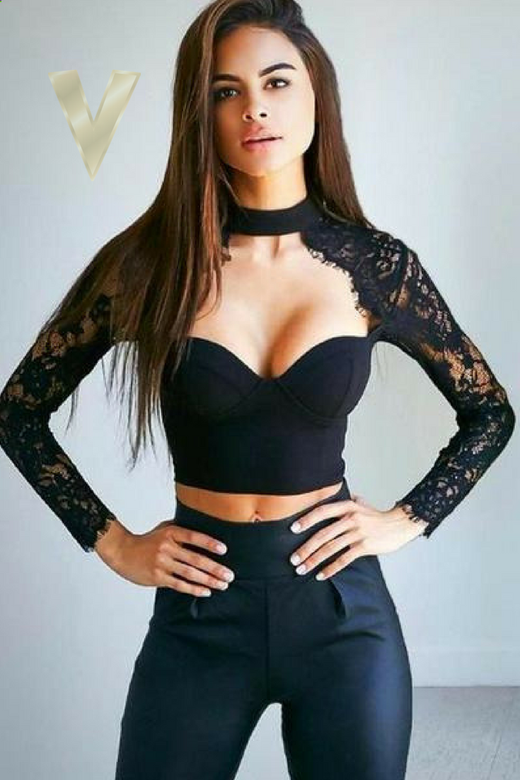 Womenus lace cami tops casual crop top shirts chic n fashion
