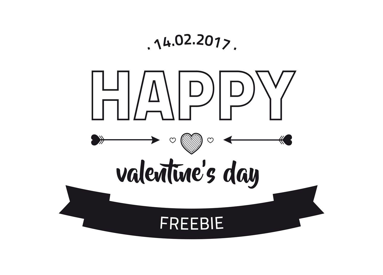Happy Valentines Day | Valentinstag | Grußkarte | Freebie | Finjas ...