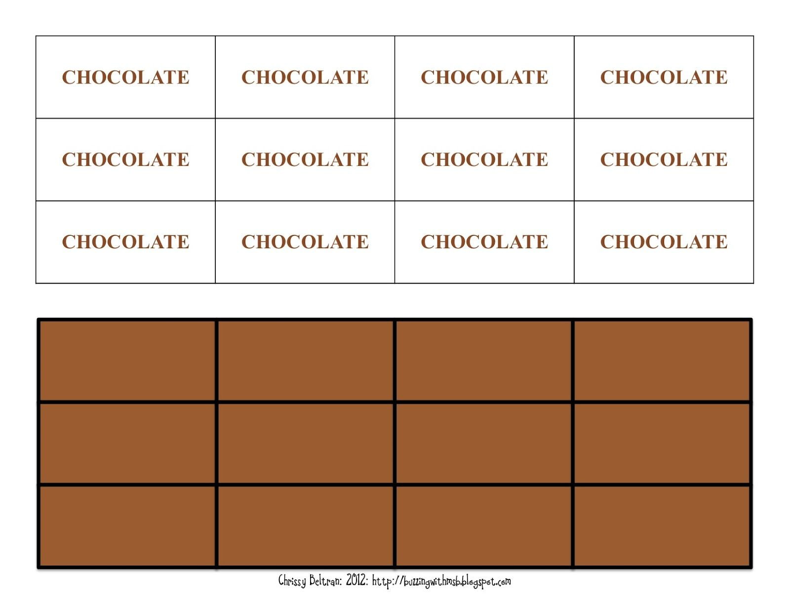 3 6 Free Resources Hershey S Fraction Book Chocolate Pieces