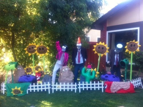 seller cjkernal customaly made a complete set of life size plants vs zombies halloween decorations - Zombie Halloween Decorations