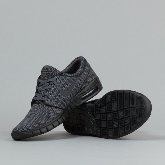 nike sb stefan janoski max shoes - dark grey / black