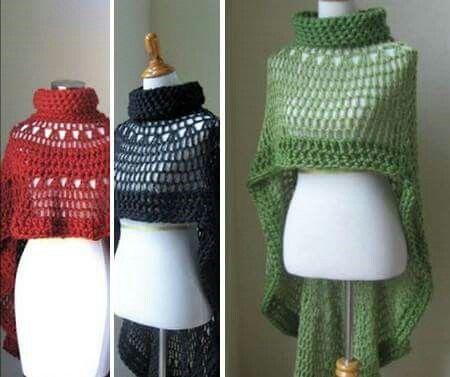 Pin von esther ortiz hernández auf capas y ponchos de crochet ...