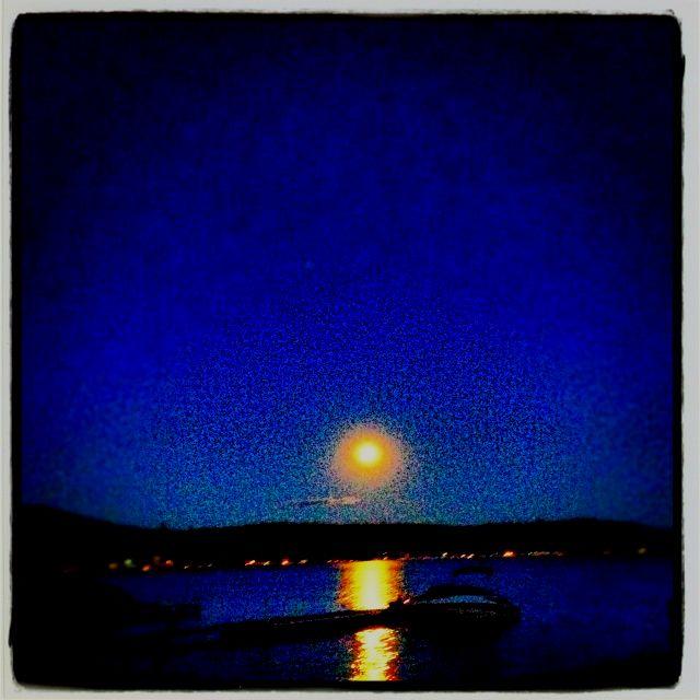 Loon Lake Moon Rise July 2012 Spokane, WA