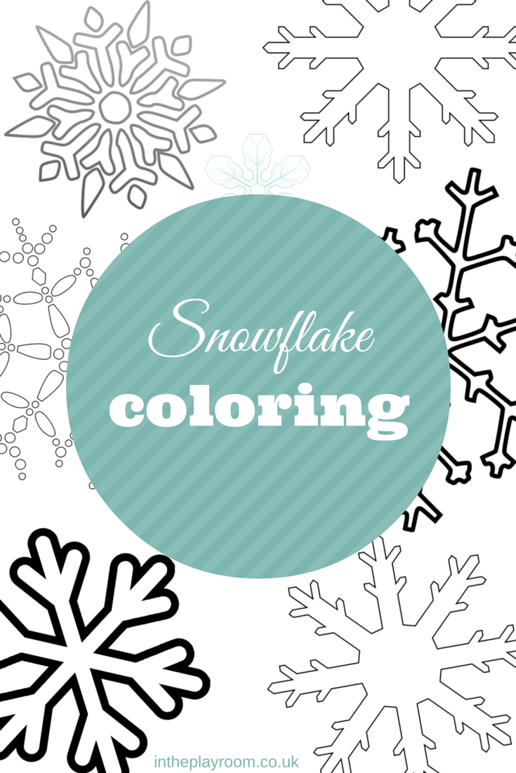 Snowflake Colouring Pages | Pinterest | Template, Decorating and Craft