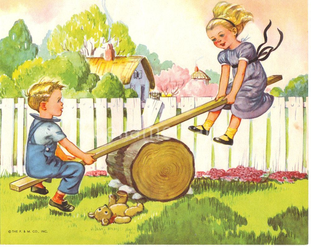 See Saw Margery Daw Mother Goose Nursery Rhymes