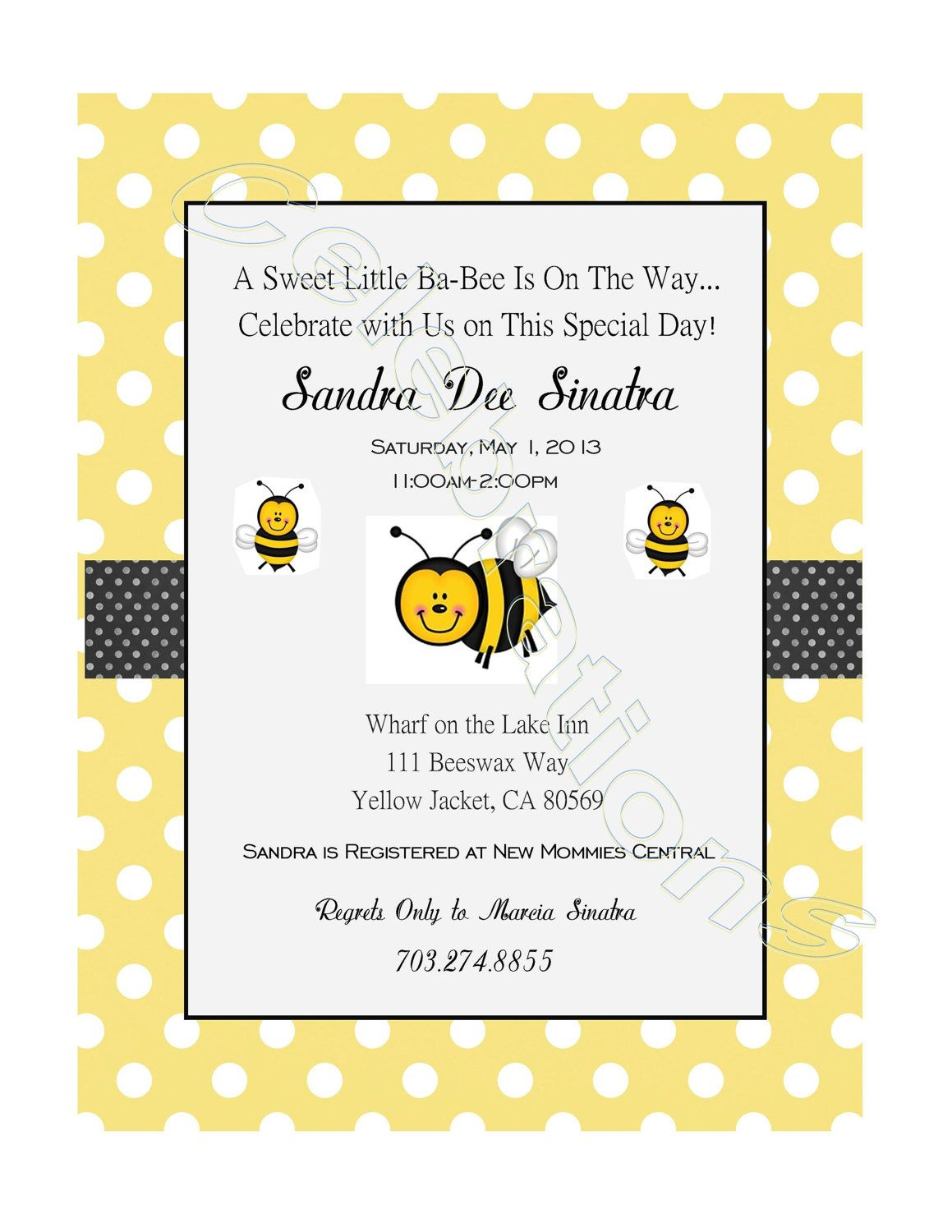 Bumble Bee Baby Shower Invitation. $7.00, via Etsy. | Triplets ...