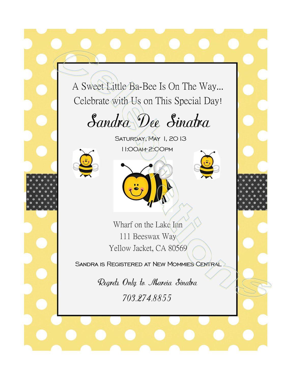 Bumble Bee Baby Shower Invitation. $7.00, via Etsy. | Triplets ...