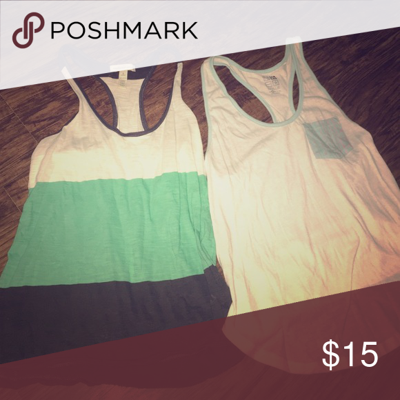 Tank tops Two tank tops will sell together for $15 or $6 for just one. Size small 💕 Nollie Tops Tees - Short Sleeve