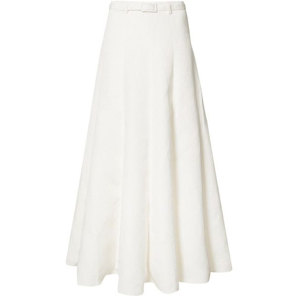 Co Pleated Maxi Skirt 855 Aud Liked On Polyvore Featuring
