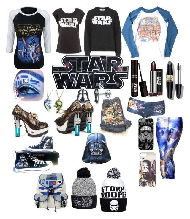 """""""Let the force be with you"""" by frankoero ❤ liked on Polyvore featuring interior, interiors, interior design, home, home decor, interior decorating, Junk Food Clothing, Topshop, Max Factor and Converse"""