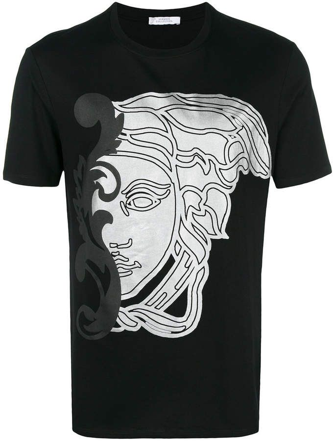84531657 Versace Medusa print T-shirt | Products | Versace, Versace ...