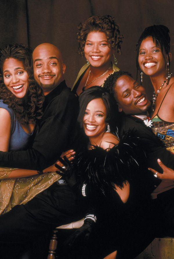 The Original Cast Of Living Single Clockwise Starting Left Kim Coles John Henton Queen Latifah Erika Alexander TC Carson And Fields