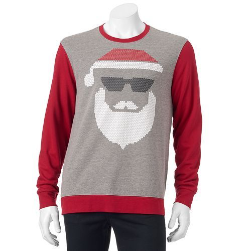Santa Face Christmas Sweatshirt - Men