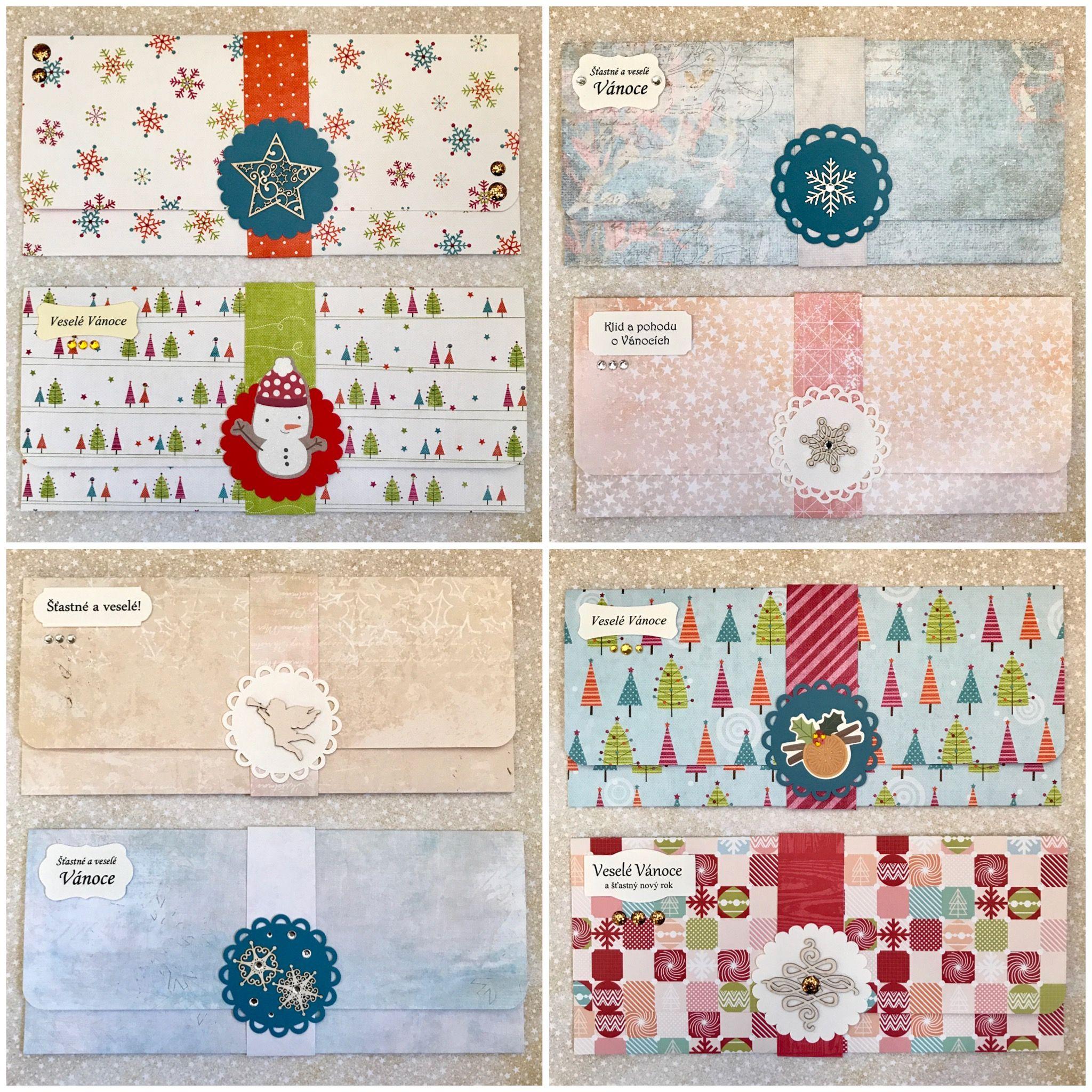 Vánoční darovací obálky Paper crafts, Quilts, Crafts