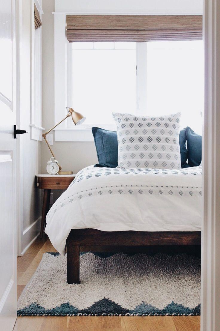 Best White Indigo Bedroom Small Guest Bedroom Home Bedroom 640 x 480