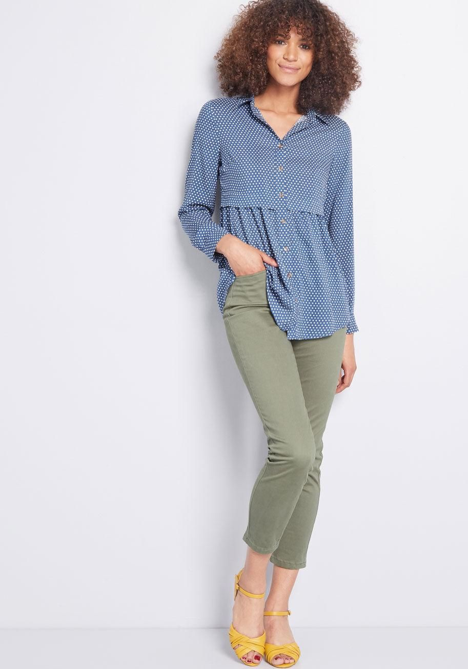 943ba1364fd Around the Corner Long Sleeve Tunic An opportunity to sport this blue tunic  is always closeby