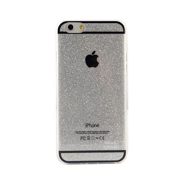 SILVER GLITTER IPHONE CASE ($24) ❤ liked on Polyvore featuring accessories, tech accessories, electronics, phone cases, apple iphone cases, pink iphone case, blue iphone case, iphone cover case and pink glitter iphone case