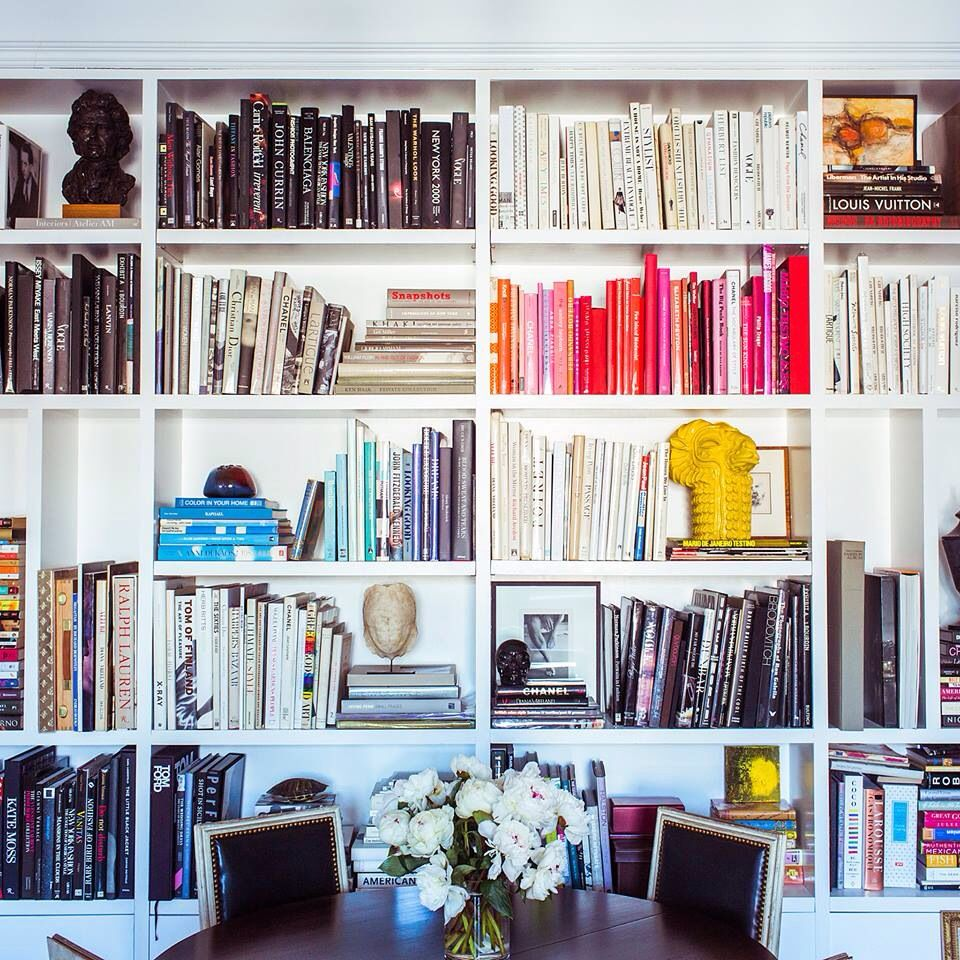 Displaying books office space pinterest