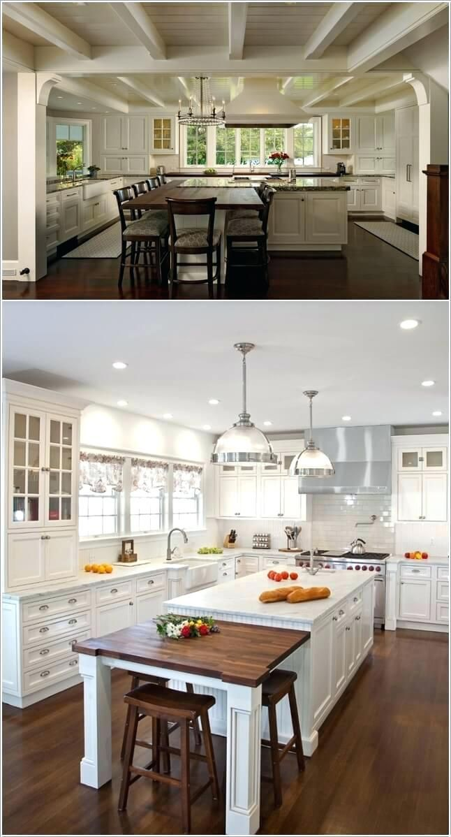 Kitchen Extend Kitchen Island Extend Your Kitchen Island Into A Dining Table Extend Existing Kit Kitchen Island Table Diy Kitchen Renovation Kitchen Nook Table