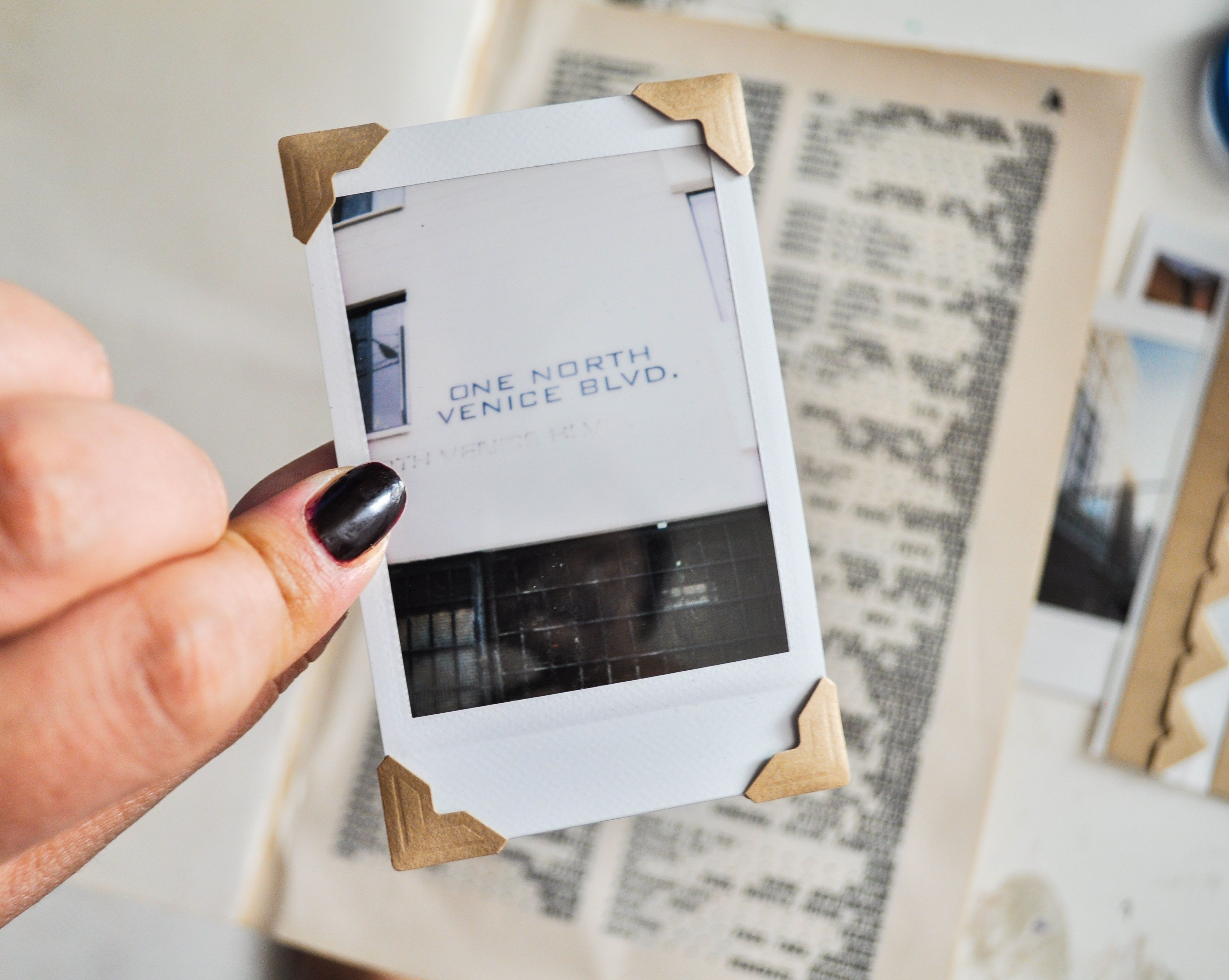 White Polaroid Frame