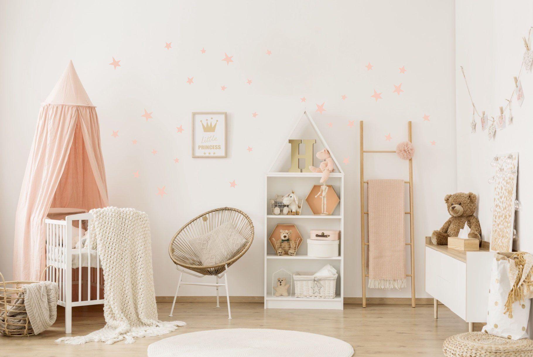 Comment Rafraichir Une Chambre De Bébé stickers muraux etoiles roses pom le bonhomme en 2020 | deco