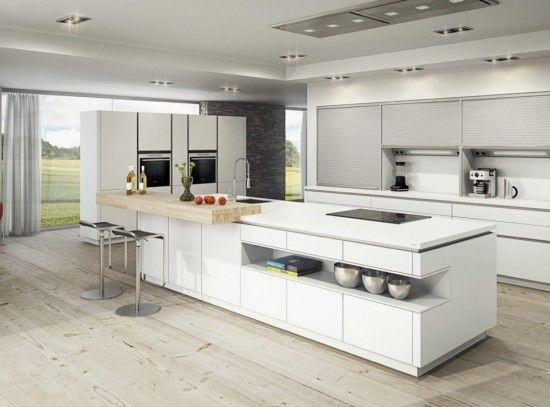 Cocina moderna con isla Más | Interior | Pinterest | Cocina moderna ...
