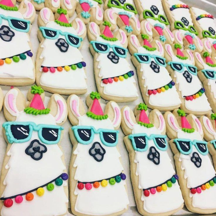 Photo of Party Llama cookie – Hayley Cakes and Cookies