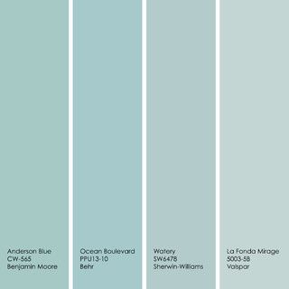 Interested in trying a version of duck egg blue yourself? Consider one of the four paint colors shown here in addition to the ones previousl...