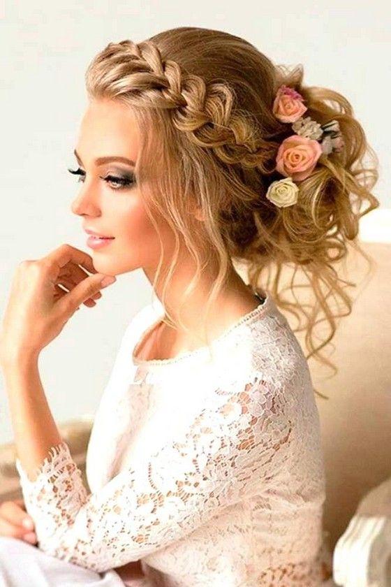 221be9913a34 Acconciatura matrimonio invitata capelli lunghi ...