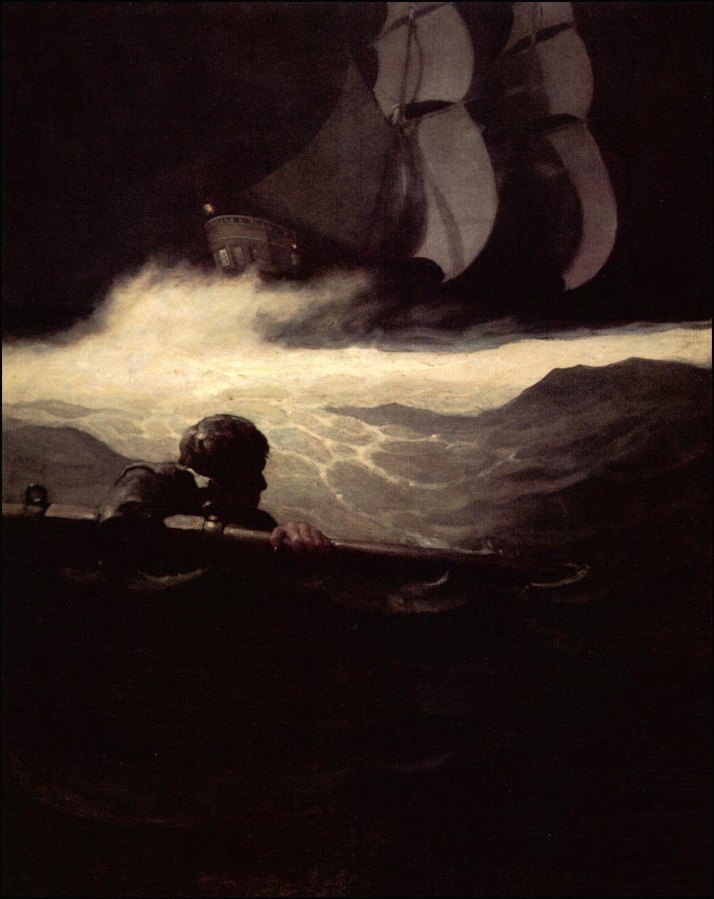 Painting by N.C. Wyeth