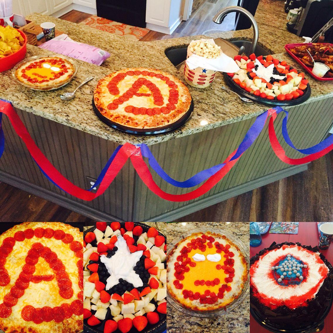 Captain America Civil War Birthday Party Food