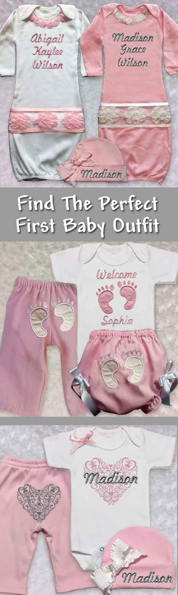 Newborn Infant Outfits Find The Perfect Baby Girl First Outfit Featuring