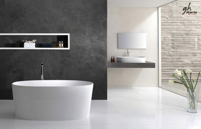 simplistic in minimalist bathroom