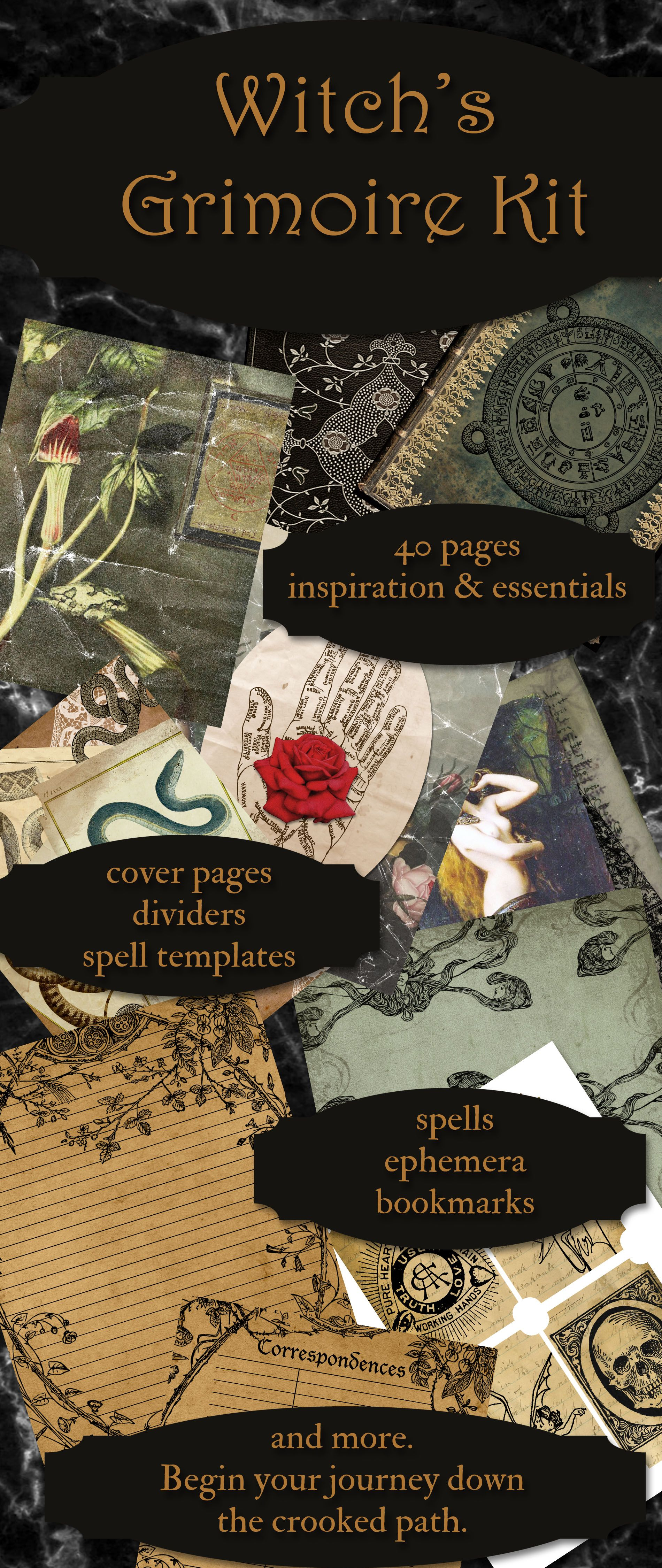 How To Make Your Personal Grimoire Book Of Shadows Ideas Grimoire Ideas Book Of Spells In 2020 Book Of Shadows Witch Grimoire