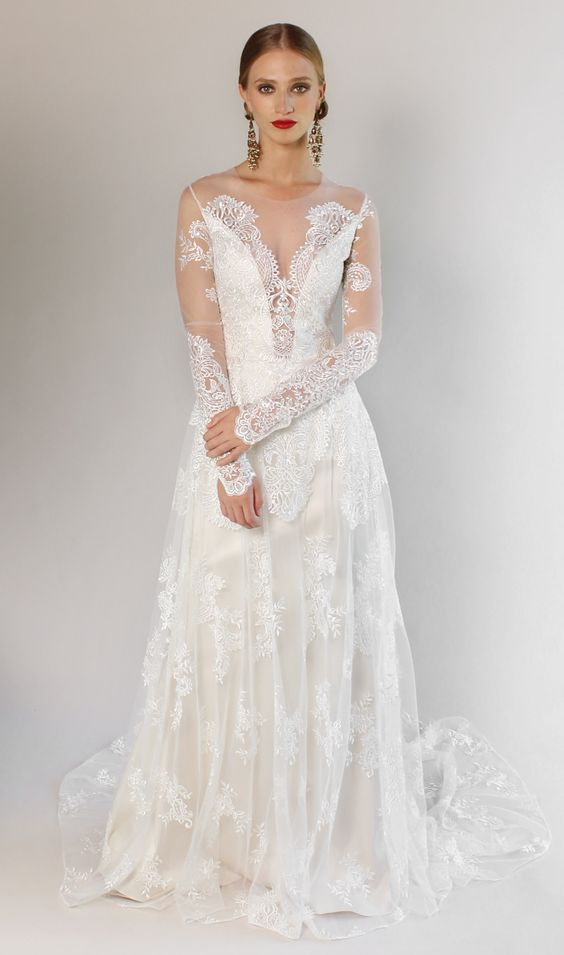 f88a2ff3c6bf Romantique by Claire Pettibone Pasadena Lace Wedding Dress