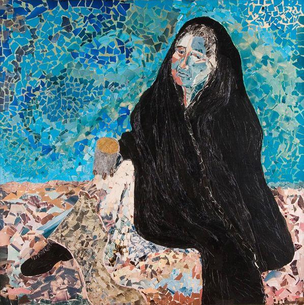 TANYA MIKAELA, Mixed Media/Upcycled Collage