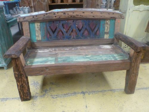 Brilliant Balinese Furniture Hand Carved Recycled Timber Bench Seat Theyellowbook Wood Chair Design Ideas Theyellowbookinfo