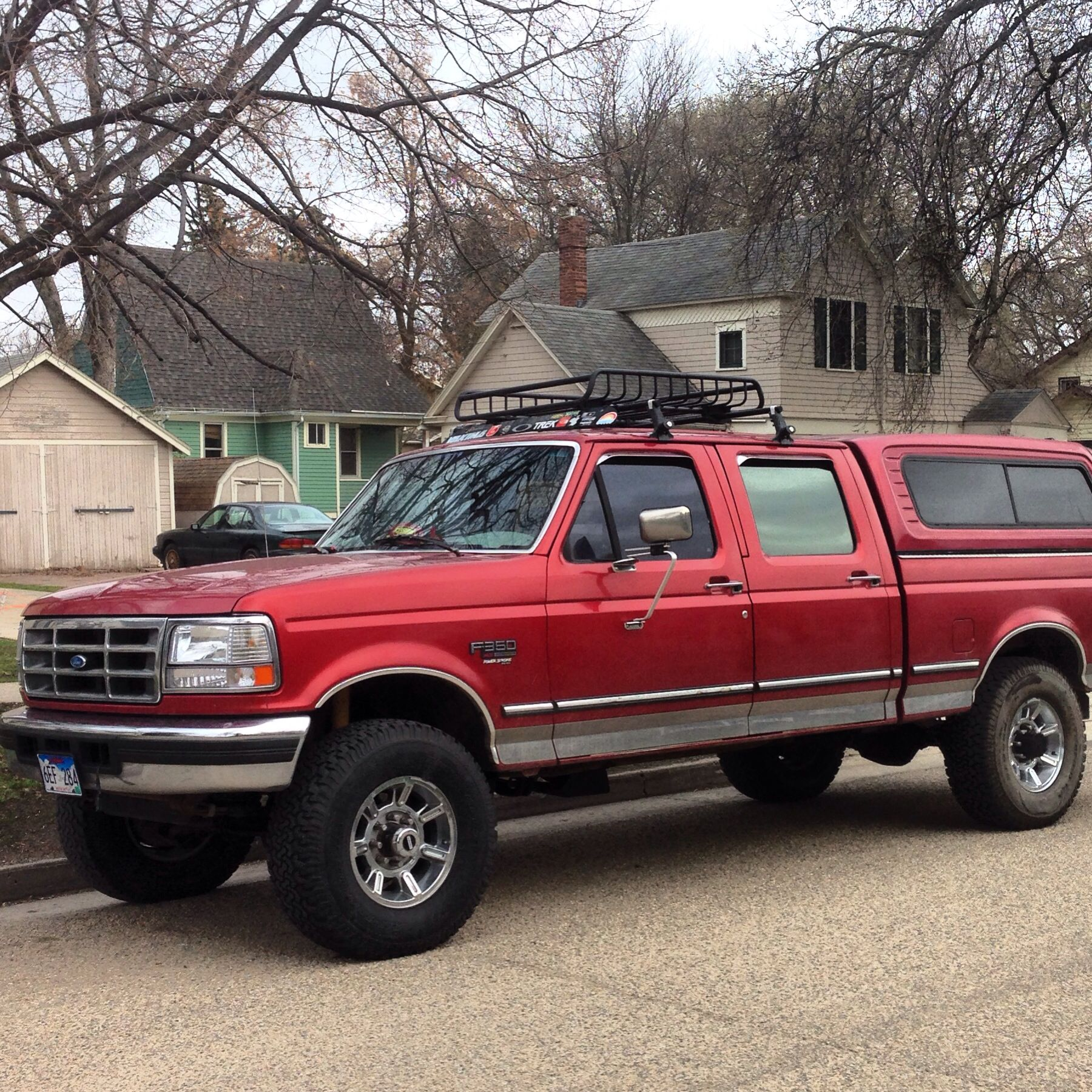 1997 Crew Cab 7.3 Powerstroke F 250 Yakima Roof Rack Topper Obs 35 Inch  Tires